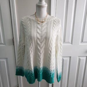 EUC Tommy Bahama Ombre Cable Knit Sweater SZ M